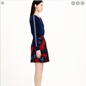 🆕 item J.Crew Firework Floral A-Line skirt